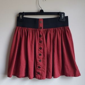 Forever 21 High Waisted Rust Skater Skirt